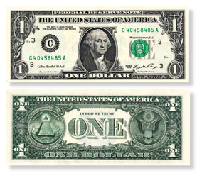$1 Federal Reserve notes