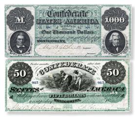 Confederate notes