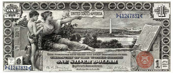 $1 silver certificate, series 1896