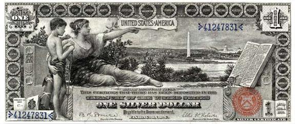 $1 silver certificate, series 1896