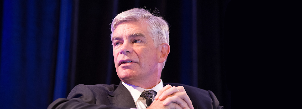Federal Reserve Bank of Philadelphia President Patrick Harker speaking at an event
