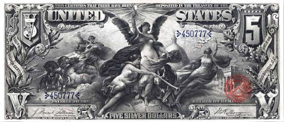 $5 silver certificate, series 1896